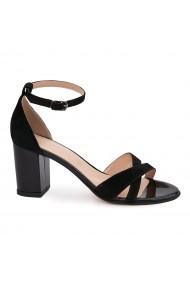 Sandale elegante din piele naturala neagra 5623