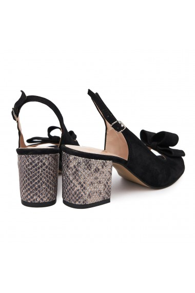 Sandale elegante din piele naturala neagra 5627