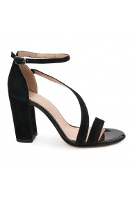 Sandale elegante din piele naturala neagra 5628