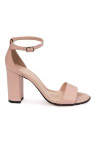 Sandale elegante din piele naturala nude 5629