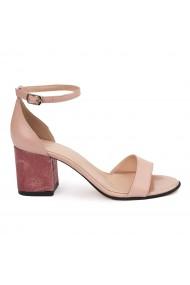 Sandale elegante din piele naturala nude 5630