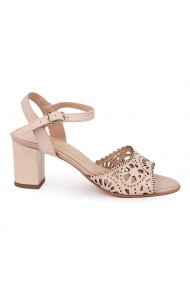 Sandale elegante din piele naturala nude 5631