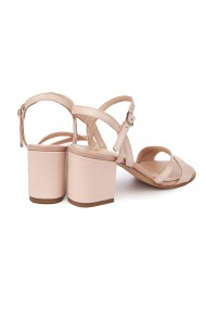 Sandale elegante din piele naturala roz 5632