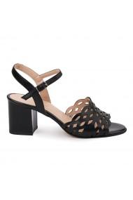 Sandale elegante din piele naturala neagra 5633