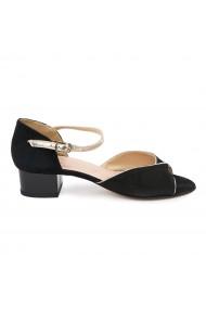 Sandale elegante din piele naturala neagra 5634