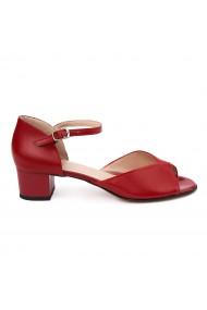 Sandale elegante din piele naturala rosie 5636