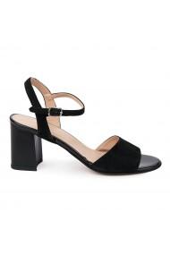 Sandale elegante din piele naturala neagra 5640