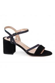 Sandale elegante din piele naturala neagra 5641