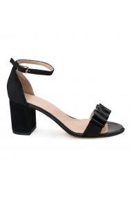 Sandale elegante din piele naturala neagra 5642