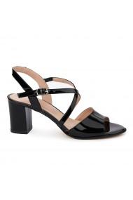 Sandale elegante din piele naturala neagra 5643