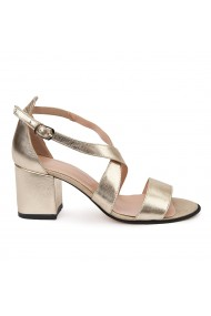 Sandale elegante din piele naturala aurie 5647