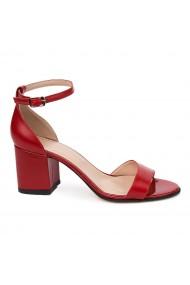 Sandale elegante din piele naturala rosie 5660