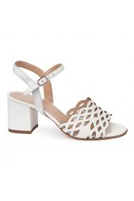 Sandale elegante din piele naturala alba 5664
