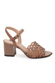 Sandale elegante din piele naturala maro 5665