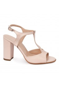 Sandale elegante din piele naturala roz prafuit 5668