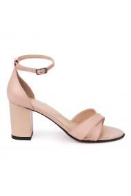 Sandale elegante din piele naturala nude 5669