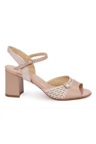 Sandale elegante din piele naturala nude 5673