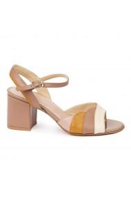 Sandale elegante din piele naturala bej 5674