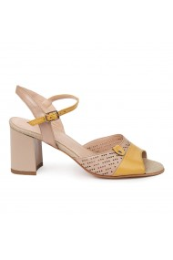 Sandale elegante din piele naturala bej 5675