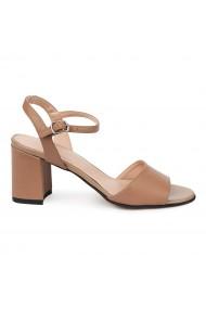 Sandale elegante din piele naturala maro 5676