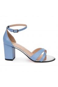 Sandale elegante din piele naturala blue 5678