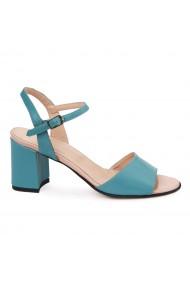 Sandale elegante din piele naturala turcoaz 5680