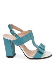 Sandale elegante din piele naturala turcoaz 5681