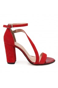 Sandale elegante din piele naturala rosie 5682