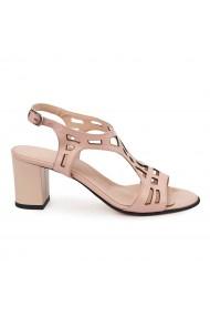 Sandale elegante din piele naturala bej 5683