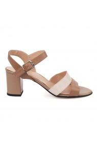 Sandale elegante din piele naturala maro 5685