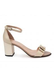 Sandale elegante din piele naturala bej 5686
