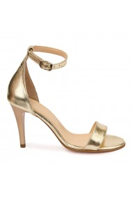Sandale elegante din piele naturala aurie 5798