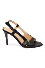 Sandale elegante din piele naturala neagra 5799