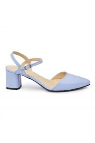 Sandale elegante din piele naturala cu toc mic 5805