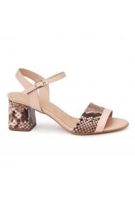 Sandale elegante din piele naturala roz 5815
