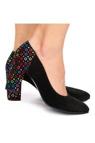 Pantofi dama din piele naturala neagra 9004