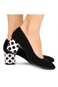 Pantofi dama din piele naturala neagra 9015