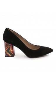 Pantofi dama din piele naturala neagra 9025