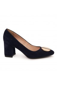 Pantofi dama din piele naturala bleumarin-inchis 9031