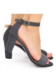 Sandale dama elegante din piele naturala gri 5818