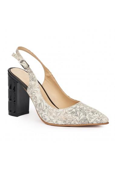 Sandale elegante din piele naturala bej 5821