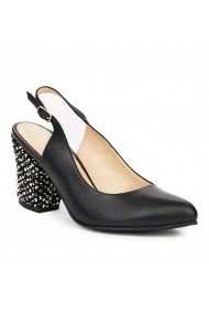 Sandale elegante din piele naturala neagra 5823