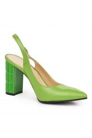 Sandale elegante din piele naturala verde 5825