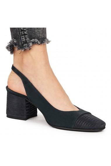 Sandale elegante din piele naturala bleumarin 5826