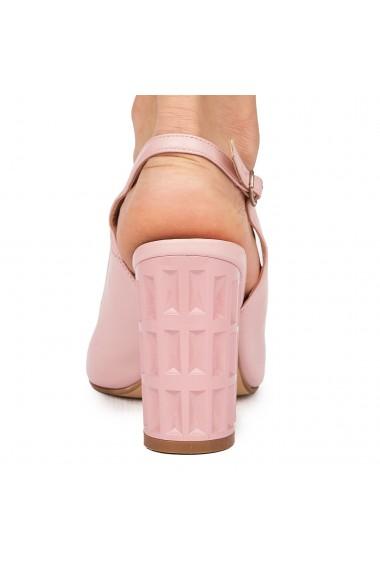 Sandale elegante din piele naturala roz 5827