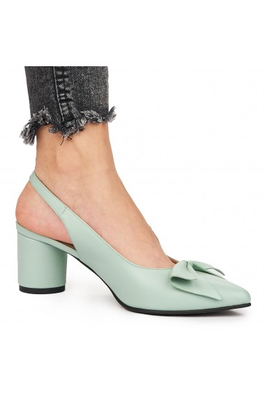 Sandale elegante din piele naturala verde 5832