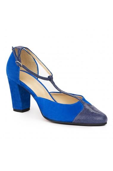 Sandale elegante din piele naturala albastra 5834