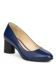 Pantofi dama din piele naturala bleumarin 9129