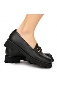 Pantofi dama piele naturala neagra 8090