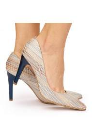 Pantofi din piele naturala cu toc ascutit 9186
